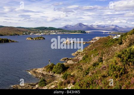 Isle of Skye from the Kyle of Lochalsh, Scotland - Stock Image
