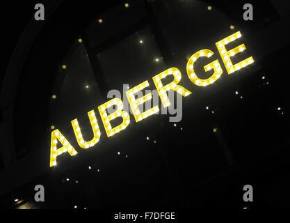 Auberge restaurant Waterloo, London,England,United Kingdom - Stock Image