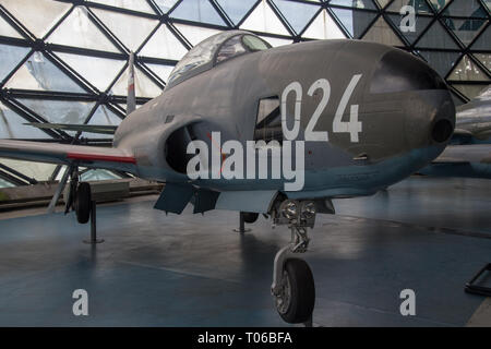Lockheed IT-33A-1LO airplane at display in Serbian Aeronautical museum in Belgrade - Stock Image