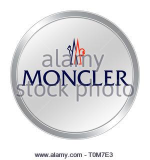 Moncler logo icon - Stock Image