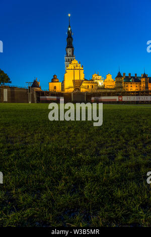 The monastery of Jasna Góra during the celebration of the assumption of Mary in August, Poland in 2018. - Stock Image