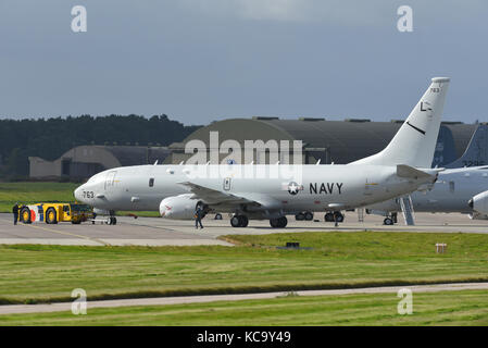 2017 Joint Warrior Exercise Maritime Aircraft gather at RAF Lossiemouth in October prior to participating over North - Stock Image