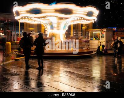 Bergen Christmas market, Bergen, Norway. - Stock Image
