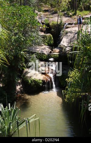 Isalo Oasis 'Piscine Naturelle', Isalo National Park, Madagascar, Africa. - Stock Image