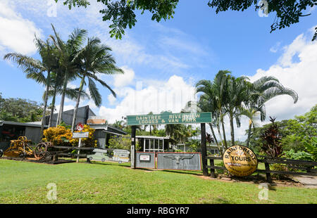 Daintree and Riverview Lodge & Van Park in Daintree Village, Far North Queensland, FNQ, QLD, Australia - Stock Image