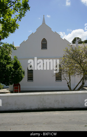 Old Dutch Style Church, Franschhoek, Winelands, Western Cape, South Africa - Stock Image