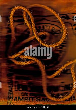 Rice Rope Illuminated. Photography, digitally adjusted - Stock Image