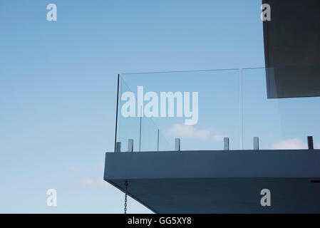 Low angle view of balcony of a modern house - Stock Image