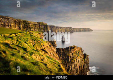 Cliffs of Moher at sunset, Doolin, Clare, Ireland - Stock Image