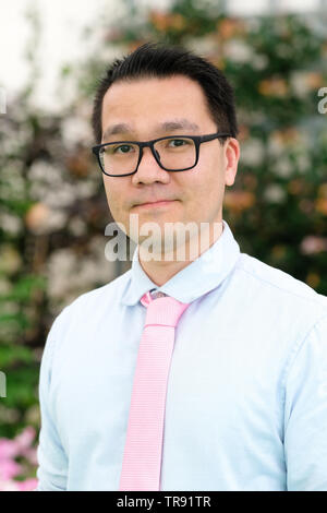 Hay Festival, Hay on Wye, Powys, Wales, UK - Friday 31st May 2019 - Writer and researcher Tyler Shores at the Hay Festival to talk about Reading in an Age of Digital Distraction. Photo Steven May / Alamy Live News - Stock Image