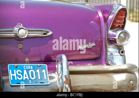 Detail of a Classic American car. BUICK. A cultural icon for modern day Cuba. Havana, Cuba - Stock Image