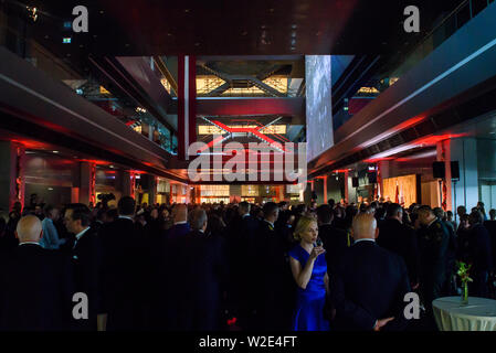 Riga, Latvia. 8th July 2019. Reception in honour of the inauguration of President of Latvia Mr Egils Levits accompanied by First Lady of Latvia Mrs Andra Levite. Credit: Gints Ivuskans/Alamy Live News - Stock Image