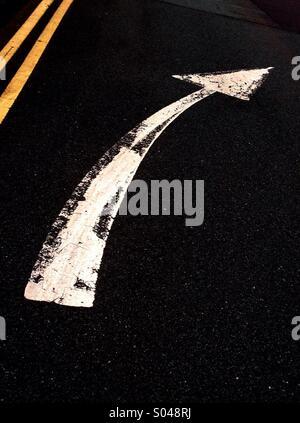 Road Marking - Stock Image