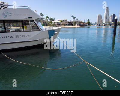 Gold Coast River Cruise Boat On The Nerang River - Stock Image
