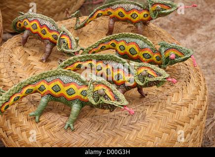 Malagasy Straw Chameleons. Antsirabe, Madagascar, Africa. - Stock Image