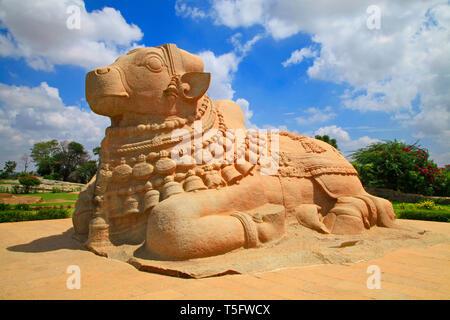 biggest monolithic nandi,lepakshi,ap state,india - Stock Image