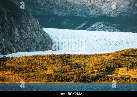Fjords and Glaciers of Cordillera Darwin - Stock Image