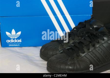 Adidas Superstar shoe - Stock Image