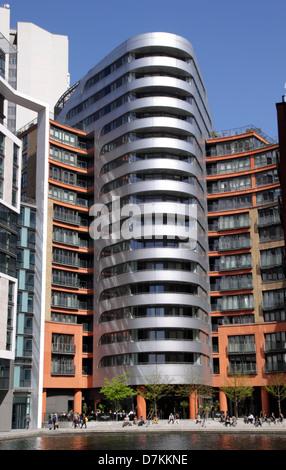 Modern apartments at Paddington Basin London - Stock Image