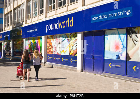 Poundworld store in city centre Plymouth Devon England UK - Stock Image