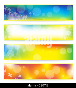 abstract colorful banner set - Stock Image