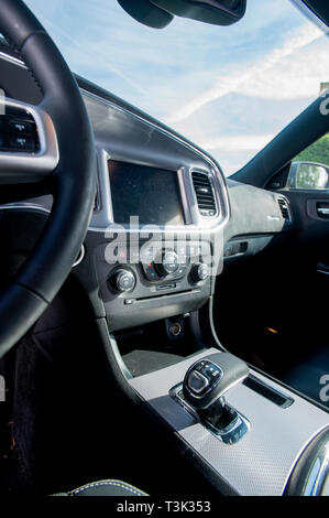 2015 Dodge Charger American muscle car - Stock Image