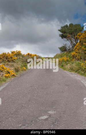 Lonesome Road #52. Remote Irish country road - Stock Image