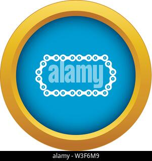 Bicycle chain icon blue vector isolated - Stock Image