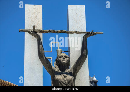 Monument to the siege.  Toledo is a municipality located in central Spain, 70km south of Madrid. It is the - Stock Image