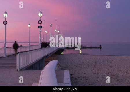 ARCACHON, FRANCE, 2018:  Arcachon is a renowned seaside resort town in southwest France that's known for oyster harvesting. - Stock Image