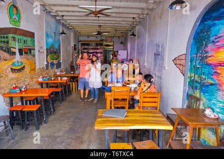 Long La Ta restaurant, Phuket town, Thailand - Stock Image