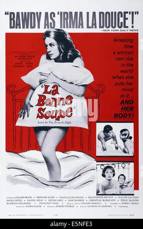 LA BONNE SOUPE, US poster art, Annie Girardot, 1964 - Stock Image
