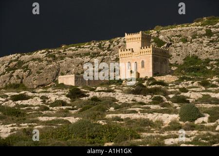 malta castle - Stock Image