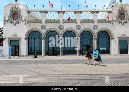 NEW YORK, NY - JUNE 29: Landmarked building of the former Childs Restaurant, in Brooklyn on June 29th, 2017 in New York, USA. (Photo - Stock Image