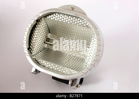 halogen on isolated background - Stock Image