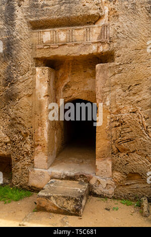 A small part of the Tombs of the Kings archaeological  site, Paphos, Cyprus - Stock Image