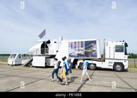 Flight simulator Wings and Wheels - Stock Image