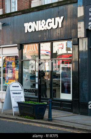 Exterior Of A Toni and Guy Hairdressers - Stock Image