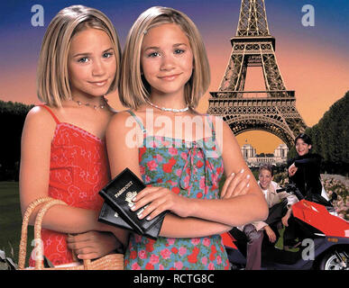 PASSPORT TO PARIS 1999 Dualstar Productions film with Ashley Olsen and Mary-Kate Olsen - Stock Image