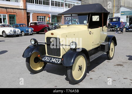 Trojan Utility Car (1924), British Marques Day, 28 April 2019, Brooklands Museum, Weybridge, Surrey, England, Great Britain, UK, Europe - Stock Image