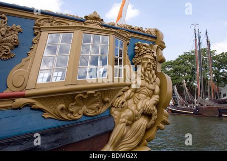Stern Ship, sailboat, Statenjacht, Utrecht - Stock Image