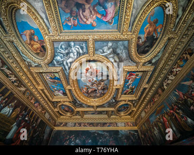 The Great Council Hall in the Doge Palace - Stock Image