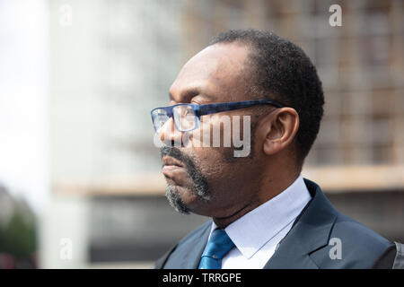 London, UK. 11th June 2019. British stand-up comedian, actor, singer, writer and television presenter and known for co-founding Comic Relief, today talking to the press outside the Houses of Parliament. Credit: Joe Kuis / Alamy News - Stock Image