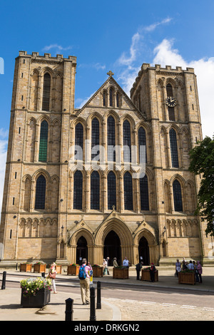 Ripon Cathedral on sunny day, North Yorkshire, England - Stock Image