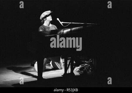 Elton John performing in concert at the Theatre des Champs-Elysees, Paris. 21st February 1979. - Stock Image
