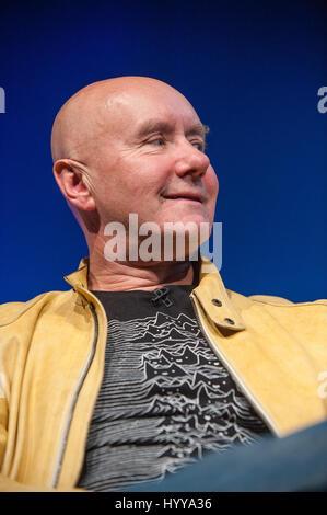 Irvine Welsh, Scottish writer, on stage at the Edinburgh International Book Festival. 24th August 2014. Irvine Welsh - Stock Image