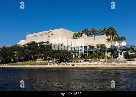 The Straz Center of Performing Arts, Tampa, Florida, USA - Stock Image