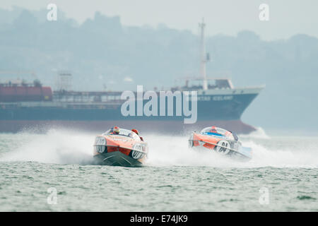 Stokes Bay, Hampshire, UK. 6th Sep, 2014. P1 Superstock final round. Stokes Bay, Gosport, Hampshire. P1 Panther - Stock Image