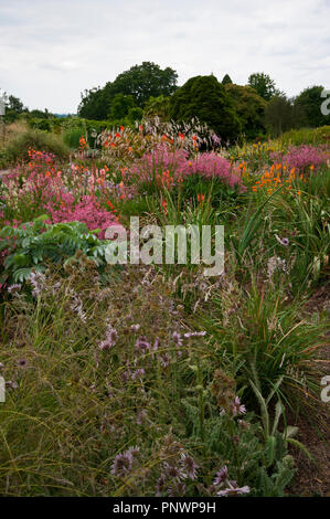 A Dry Rock Garden with Drought Loving Plants - Stock Image