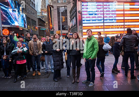 street life in Times Square - Stock Image